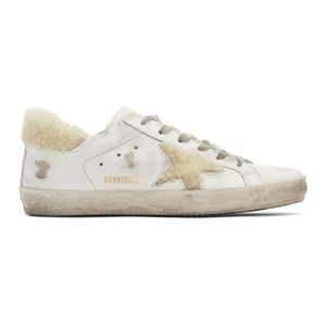 Golden Goose Super Star Shearling Lined Sneakers